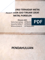 Reaksi Alergi Terhadap Metal Gigi Tiruan Cekat