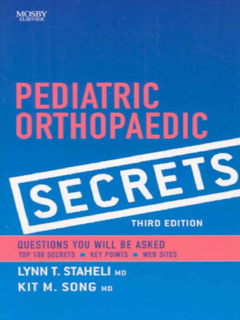 Tachdjians Pediatric Orthopaedics 5th Edition Pdf