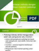 Penilaian Individu Dengan Aplikasi Inventori Psikologi1