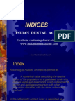 indics / orthodontic courses by Indian dental academy