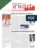 Niedersachsen-Vorwärts Mai / Juni 2014