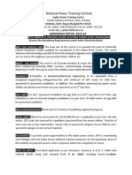 Admission Notice(2013-14)Post Graduate Diploma Course in Hydro Power Plant Engineering