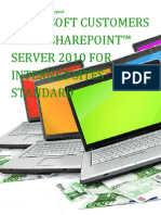 Microsoft Customers using SharePoint™ Server 2010 for Internet Sites Standard - Sales Intelligence™ Report