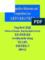 Anti-competitive Behaviour and Competition Law 反競爭行為與公平競爭法