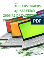 Microsoft Customers using SQL Server® 2008 R2 Datacenter 1 processor - Sales Intelligence™ Report
