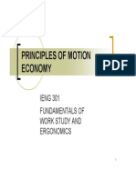 22 Principles of Motion Economy