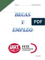 Boletín de Becas y Empleo. Semana Del 12 de Mayo de 2014