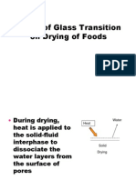 Effect of Glass Transition on Drying of Foods