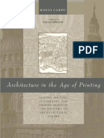 Mario Carpo Architecture in the Age of Printing- Orality, Writing, Typography, And Printed Images in the History of Architectural Theory 2001