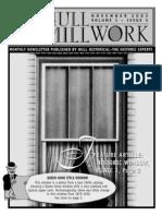 Hull Millwork. November 2003. Vol 1, Issue 3