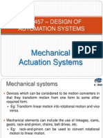 Mechanical Actuation System