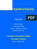 Competition Regulation in Hong Kong