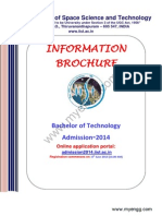 Indian Institute of Space Science Technology IIST 2014 Information Brochure