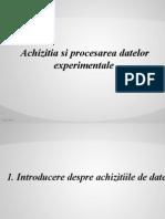 Achizitia Si Procesarea Datelor Experimentale
