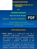 Pediatric G.I Disorders Final