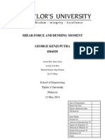 Shear Force and Bending Moment