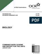 L a Level Biology MS Jan 05 (1)
