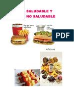 Comida Saludable y Comida No Saludable