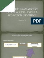 Criterios Gramaticas y Convencionales en La Redacción Científica