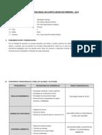 Programación Anual de Sexto Grado de Primaria