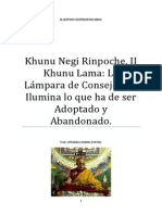 Khunu Negi Rinpoche La Lámpara de Consejo Que Ilumina Lo Que Ha de Ser Adoptado y Abandonado.
