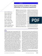 Dimensional Representations of DSM-IV Personality