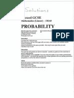 GCSE Topics - Probability - Answers