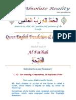 001 Fatihah Quran Surah Fatihah Arabic English Tafsir (Commentary) by Abdullah Yusuf Ali
