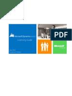 Microsoft Dynamics AX 2012 Licensing Guide July 2012 Customer Edition