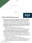 FAQ GATE 2014 Scorecard