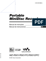 MiniDisc Portatil MZR501_es