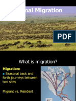 MIGRATION OF ANIMALS