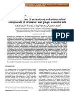 Characterization of Antioxidant and Antimicrobial Compounds of Cinnamon and Ginger Essential Oils