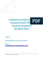 A Validation of QFracture vs FRAX for NICE 2011 (1.3) (1)