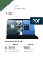 Programming TT Series CNC