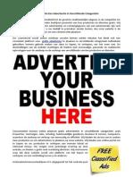 Plaats Gratis Een Advertentie in Verschillende Categorieën