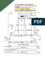 Design of Pcc Abutment - Open Foundation