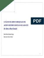 Catalogo Libros Sacramentales a-G