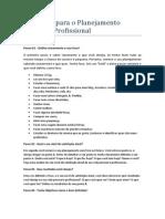 13 Passos Para o Planejamento Pessoal e Profissional