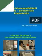 Analiza Biocompatibilitatii Celule - Biomateriale
