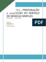 Manual Modulo 3.1 Preparação e Execução Do Serviço de Bebidas Simples