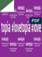 lovetopía - pancarta 50x135