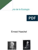 Historia de Ecología