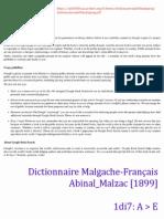 A>E (1di7) - Dictionnaire Malgache-Français - Abinal_Malzac [1899]