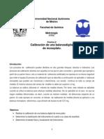 Calibración de Balanza-Reporte