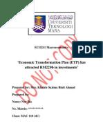 assignment eco211 macroeconomic