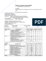 Medical School Transcript