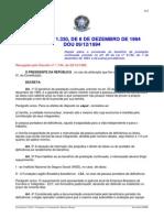 Decreto No 1.330- De 08 de Dezembro de 1994
