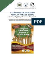 II Congreso de Educación Popular y Praxis Social 2014 -  Cartagena