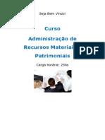 Curso Administração de Recursos Materiais e Patrimoniais